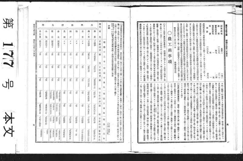 官報1884年2月4日177号