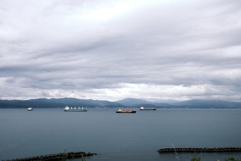 函館検疫所台町措置場(旧函館消毒所)跡からの眺め